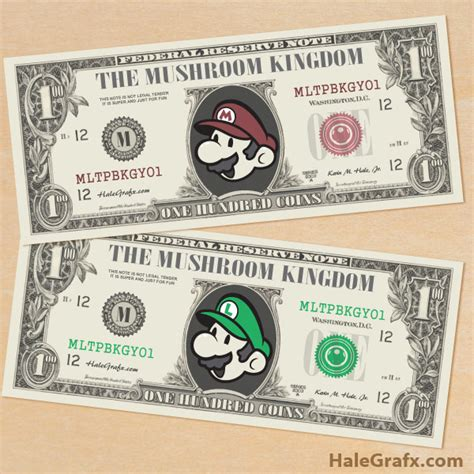 paper money template free free printable mario bros play money