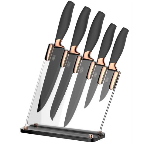 kitchen knives block taylors eye witness brooklyn 5 piece kitchen knife block