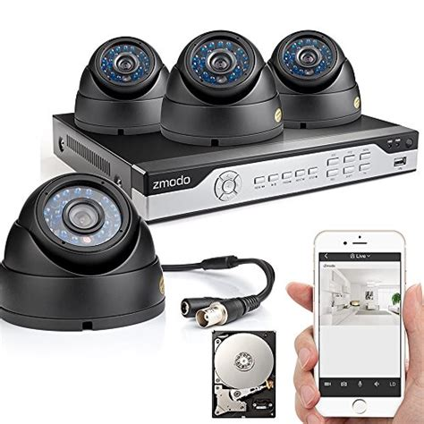 zmodo 4ch 960h dvr 4x600tvl home cctv day
