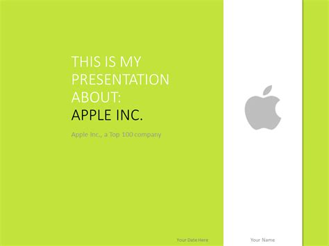 Apple Powerpoint Template Green Presentationgo Com Apple Inc Powerpoint