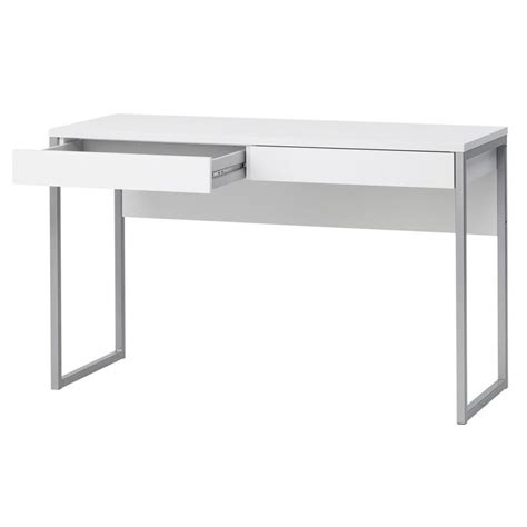 White Desk Staples Caspian White Gloss Desk Staples Interior Music Room