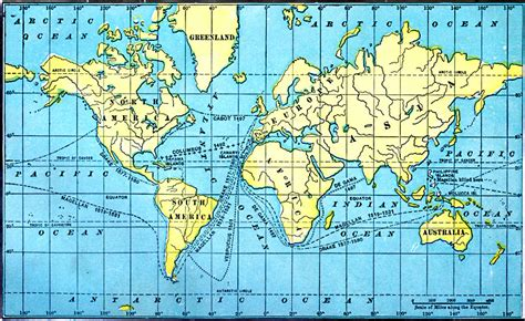 Great Voyages World Map Colouring Page