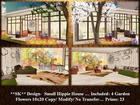 hippie house second life marketplace sk design small hippie house