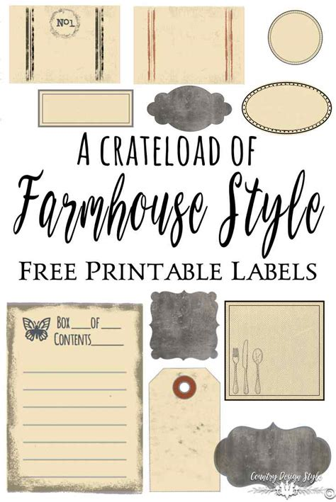 farmhouse style labels country design style