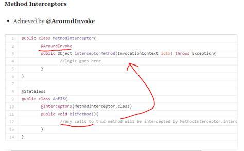 interceptor pattern in java what are interceptors in java ee stack overflow