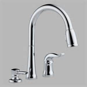 Kitchen Faucet Soap Dispenser Delta 16970 Sd Dst Pull Down Kitchen Faucet With Soap