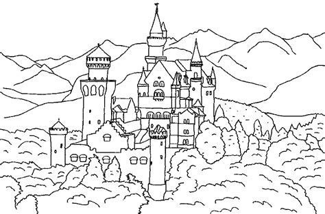 castle moat coloring page easy 3d castle coloring coloring pages