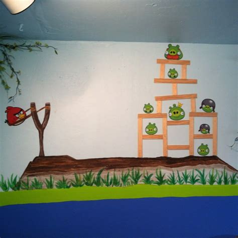 angry birds bedroom angry birds mural kids bedroom ideas 4 kidsroom