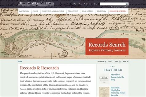 Records For House History Records Research On The House Of Representatives History Archives Website