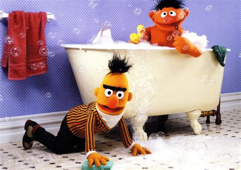 ernie bathtub image ernie bert bath jpg muppet wiki fandom powered by wikia