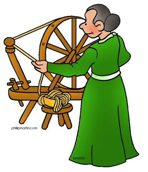 colonial clipart free colonial america clip by phillip martin spinning