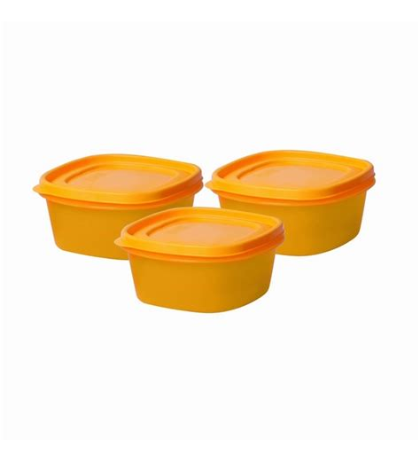 Set 3pcs Dig Yellow k2k stackwel coloured container 3pcs set yellow by k2k airtight storage kitchen