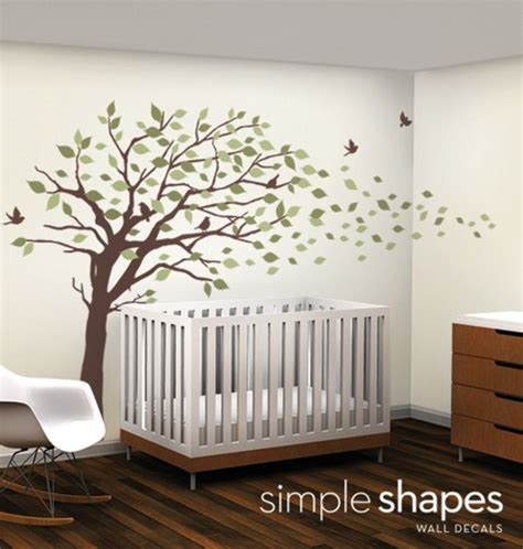 Large Vinyl Wall Stickers Vinyl Wall Art Decal Sticker Blowing Leaves Tree Large