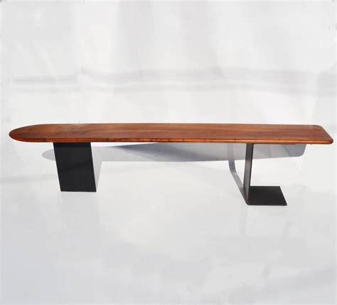 surfboard bench custom california studio walnut and steel quot surfboard