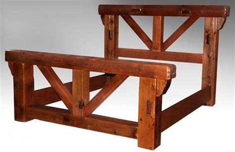 Rustic Bed Frame Plans Barn Wood Bed Frame Plans Woodworking Projects Plans