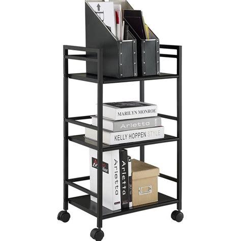 rolling metal shelves 3 shelf metal rolling utility cart in black 7741196pcom