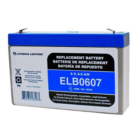 Baterai Lu Emergency 6 Volt lithonia lighting 6 volt 7 hours replacement battery