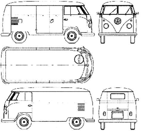 volkswagen old van drawing car blueprints volkswagen van blueprints vector