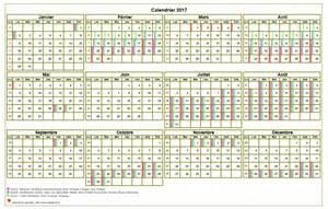 Calendrier Congés Scolaires 2017 Calendrier 2017 Annuel 224 Imprimer Avec Les Vacances