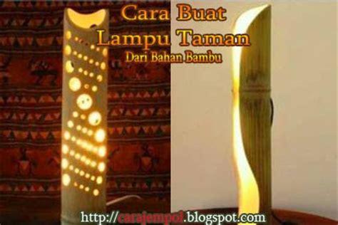 Gergaji Bambu cara buat lu taman dari bahan bambu cara jempol