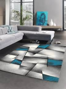 tapis salon design brillance ultimate turquoise de la