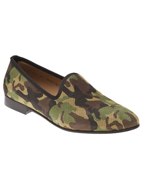 camo mens shoes toro perforated loafer in green for camo lyst