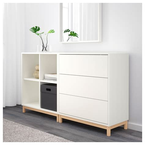 Cabinet Legs by Eket Cabinet Combination With Legs White 140x35x80 Cm