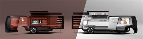 food truck peugeot design lab peugeot foodtruck transport peugeot design lab