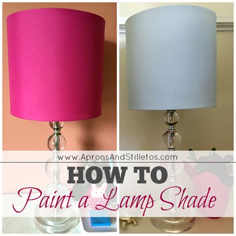 spray painting l shades how to paint a l shade aprons and stilletos