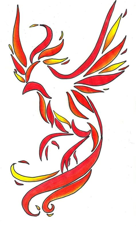 phoenix tattoo in color tattoos phoenix pinterest