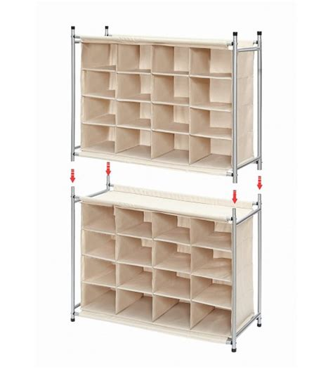 shoe storage cubbie storagemaniac 16 compartment shoe cubby 16 pair chocolate
