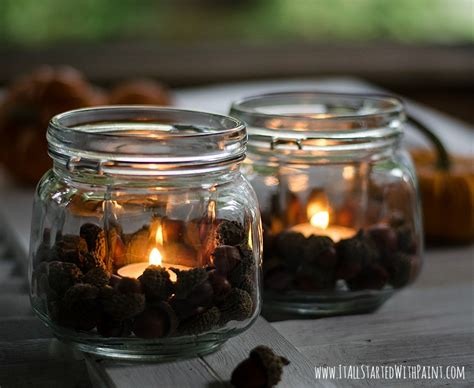 home decor jars acorn mason jar votives it all started with paint