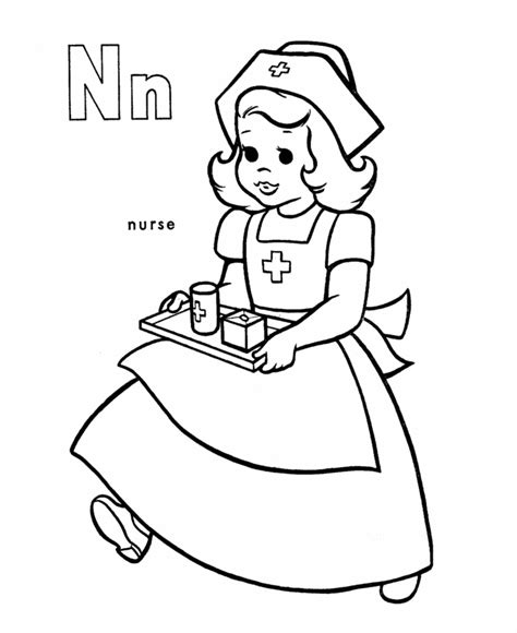 nurse coloring pages for kids az coloring pages