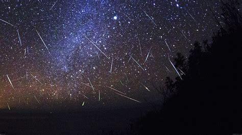 mb wallpaper meteor shower sky night papersco