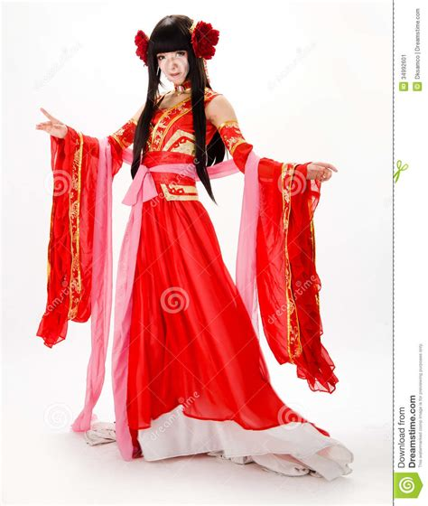 chinese dance styles asia chinese style girl in red traditional dress dancer