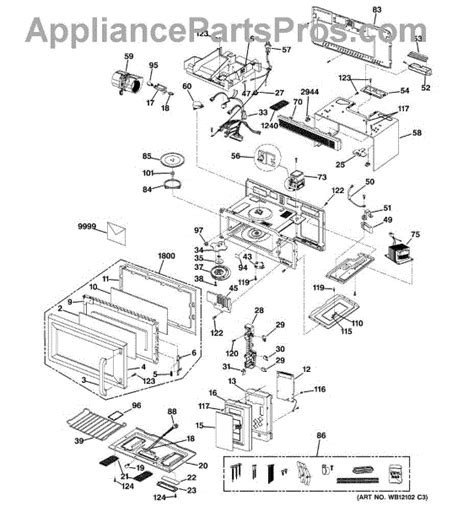 ge spacemaker microwave parts diagram parts for ge jvm1533wd002 microwave parts