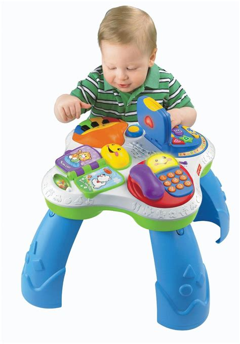 fisher price learning table amazon com fisher price laugh learn with