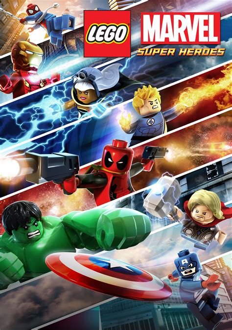 dealpool marvel hero poster film movie star american style the new poster for lego marvel super heroes superherohype