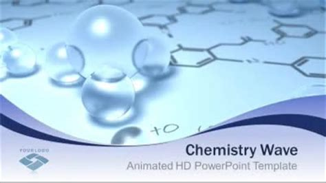 Chemistry Wave A Powerpoint Template From Presentermedia Com Powerpoint Templates Chemistry Free