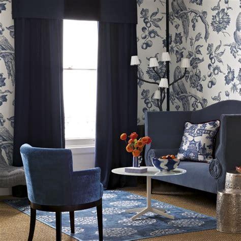 blue wallpaper living room blue living room with bold wallpaper living room designs wallpapers housetohome co uk