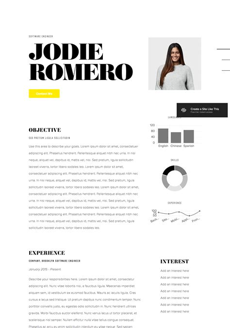 Displaying Your Resume On Your Site Squarespace Help Squarespace Personal Website Templates