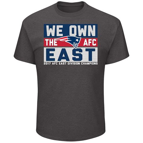2017 afc east chs we own the east tee patriots proshop