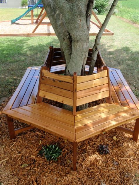 diy tree bench garden tree benches that will impress you