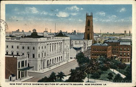 new post office and lafayette square new orleans la postcard