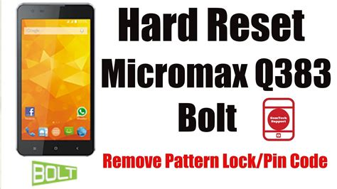 micromax a064 pattern lock youtube hard reset micromax q383 remove pattern lock pin code