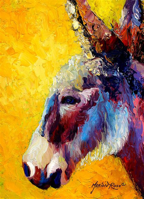 libro drawing and painting animals burro study ii painting by marion rose
