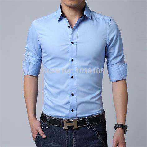 Best Wholesale Men'S Brand Shirt Mens Long Sleeve Dress Shirt Men Classic Easy Care Business