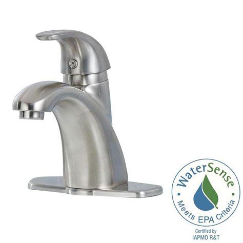 pfister bathroom sink faucets pfister parisa 4 in centerset single handle bathroom