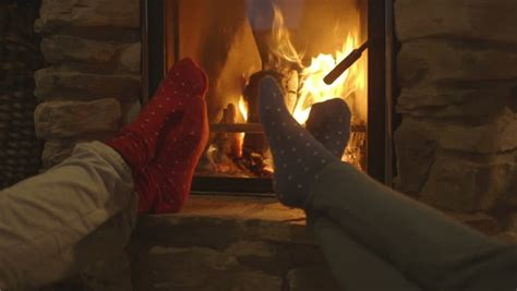Relaxing Fireplace by Relaxing Beside Fireplace Stock Footage