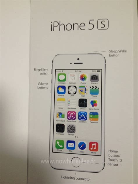 Home Button Touch Id Iphone Model Polos alleged iphone 5s user guide photo highlights fingerprint sensor as touch id mac rumors